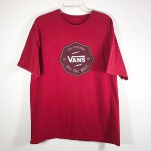 Vans Mens Graphic T-Shirt Red Vans Logo Graphic T
